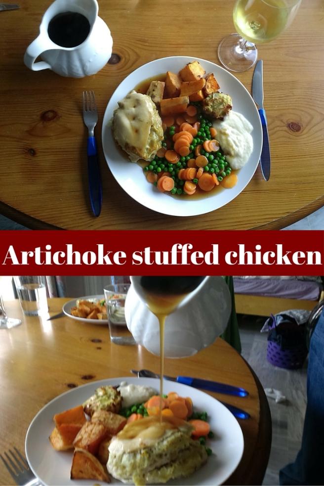 Artichoke stuffed chicken (7)