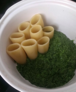 Paccheri with spinach cream (3)