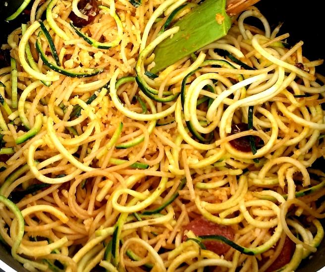 Chorizo courgetti carbonara (5)