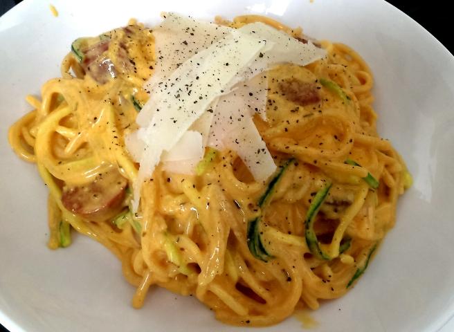 Chorizo courgetti carbonara (6)