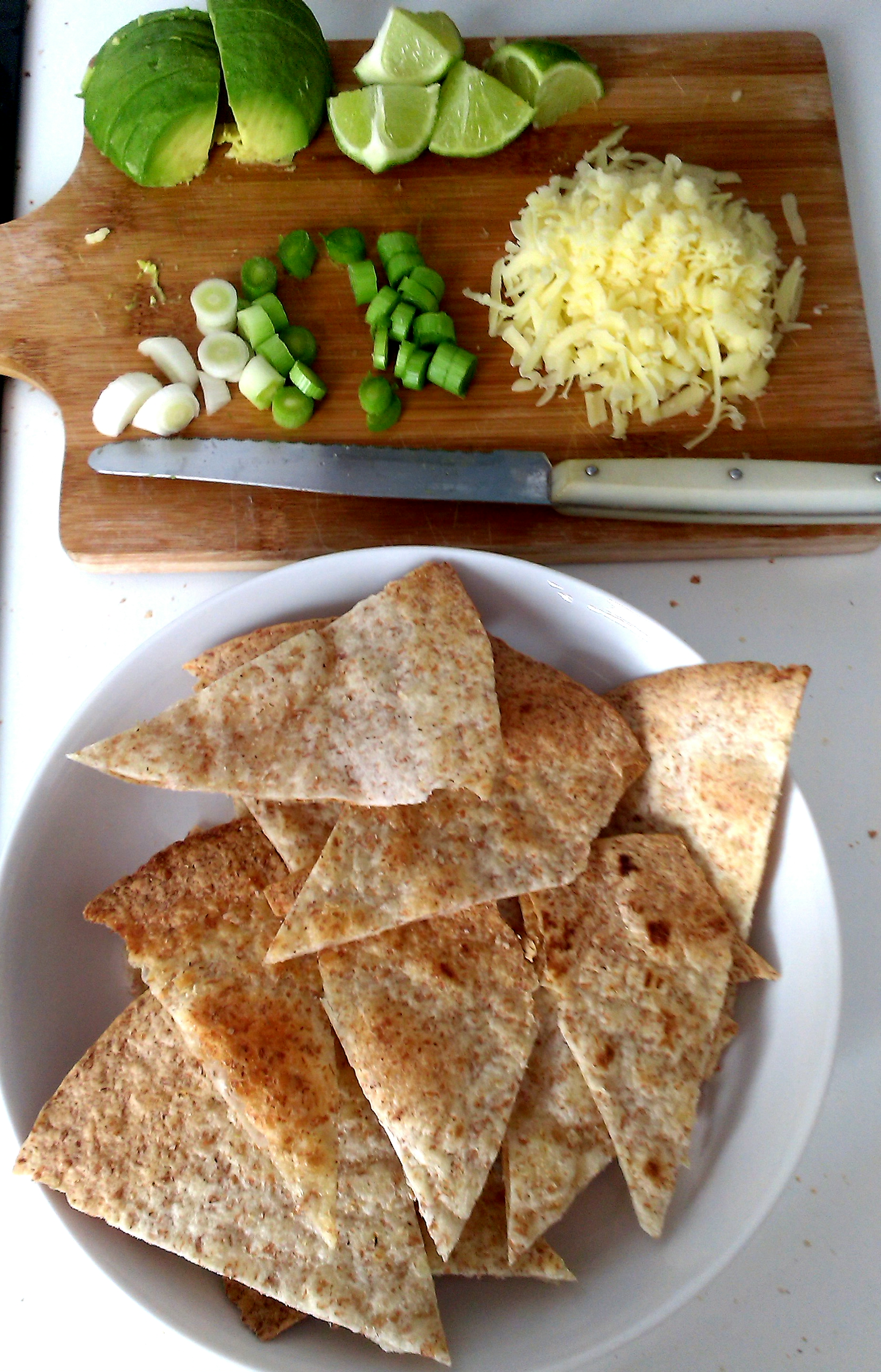 How to turn flour tortillas into crispy tortilla chips or for What can i make with tortilla chips