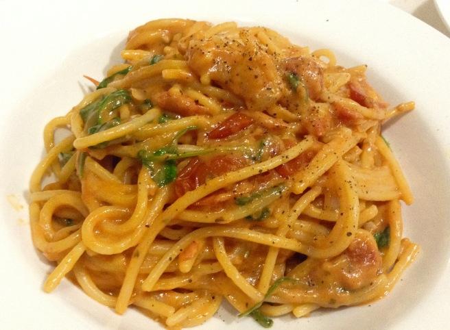 Tomato rocket and mascarpone pasta (2)