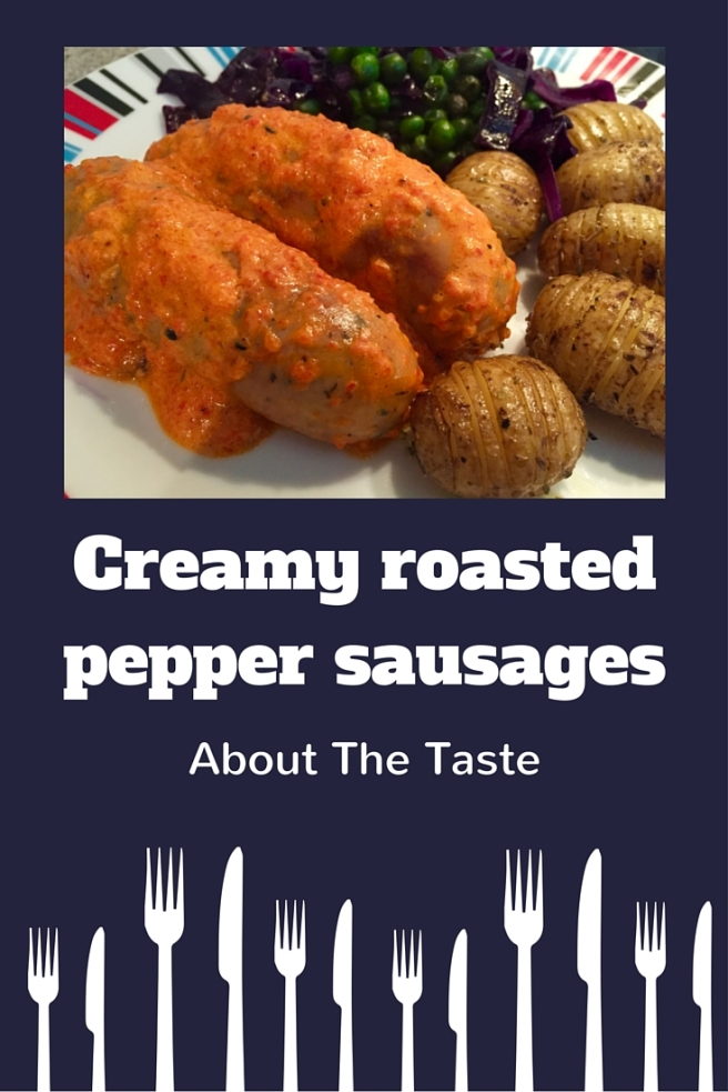 Creamy roasted pepper sausages (1)